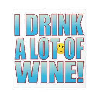 飲み物のワインの生命B ノートパッド