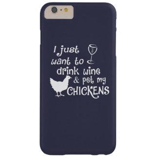 飲み物のワインは及び私の鶏をかわいがります BARELY THERE iPhone 6 PLUS ケース