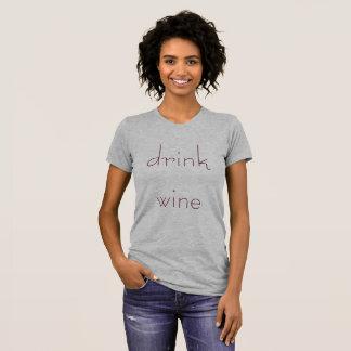 飲み物のワイン Tシャツ