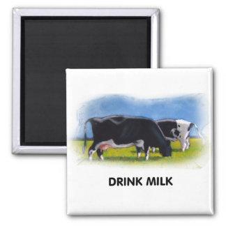 飲み物の乳牛のアートワーク マグネット