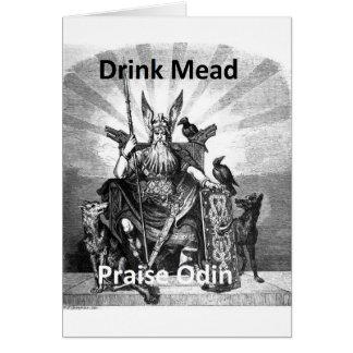 飲み物の蜂蜜酒-賞賛Odin カード