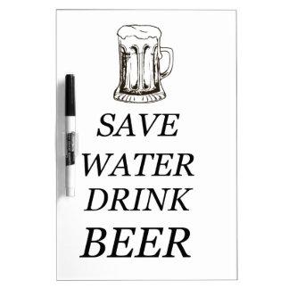 飲み物の食糧ビール ホワイトボード