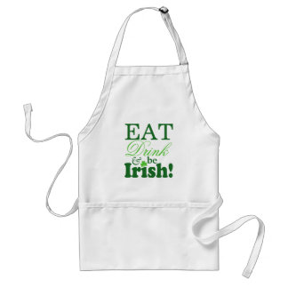 飲み物を食べ、アイルランド語が祝いますセントパトリックの日をあって下さい スタンダードエプロン
