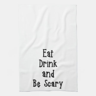 飲み物を食べ、恐いタオルがあって下さい キッチンタオル