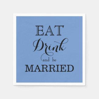 飲み物を食べ、結婚したがあって下さい スタンダードカクテルナプキン