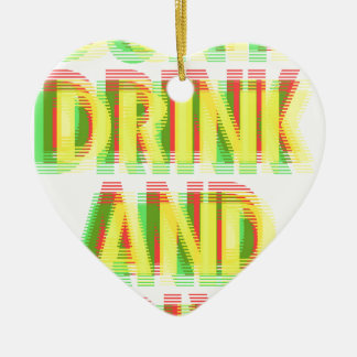 飲み物及びドライブ セラミックオーナメント
