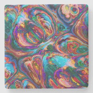 飲み物用コースターのかわいらしいレトロの芸術の抽象芸術のカラフル ストーンコースター