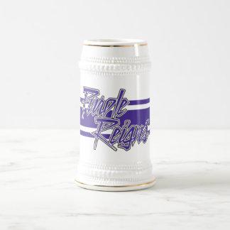 飲み物用品の紫色の統治のNストライプ- ビールジョッキ