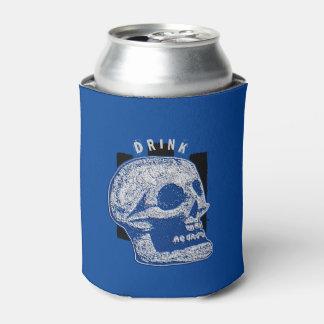 飲み物白か青いスカル- 缶クーラー