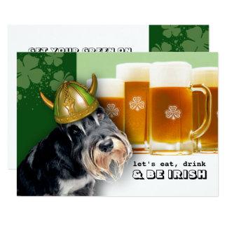 、飲み物食べて下さい及びアイルランド人のセントパトリックの日の招待状があって下さい カード