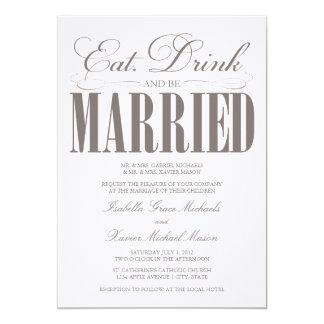 、飲み物食べて下さい及び結婚したな|の結婚式招待状があって下さい カード