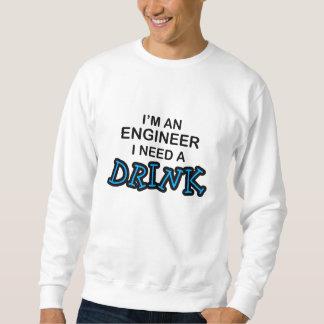飲み物-エンジニア--を必要として下さい スウェットシャツ