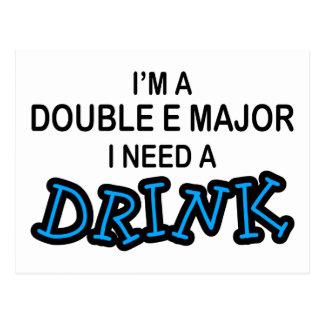 飲み物-二重Eの専攻学生--を必要として下さい ポストカード