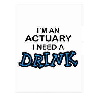 飲み物-保険計理人--を必要として下さい ポストカード
