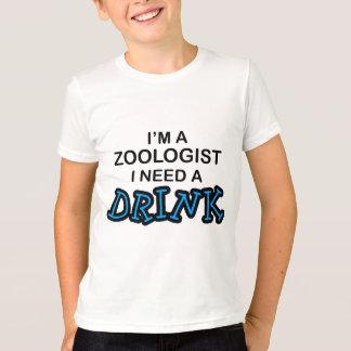 飲み物-動物学者--を必要として下さい Tシャツ