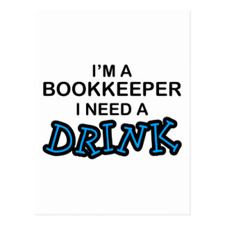飲み物-簿記係--を必要として下さい ポストカード