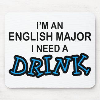 飲み物-英国の専攻学生--を必要として下さい マウスパッド