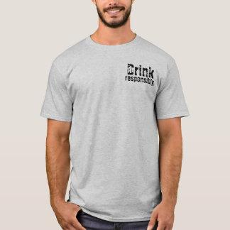 飲み物、責任があ Tシャツ