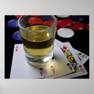 飲み、賭けるポスター ポスター