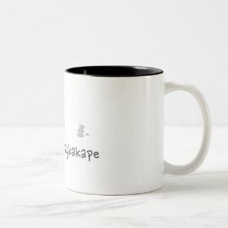 飲むコーヒーは、-かわいい2つの調子のマグに迷惑を掛けません ツートーンマグカップ