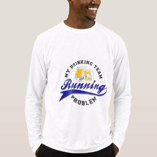 飲むチームに連続した問題のスポーツTek LSがあります Tシャツ