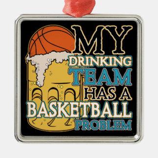 飲むチームバスケットボール メタルオーナメント