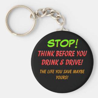飲む前に-カスタマイズ考えて下さい キーホルダー