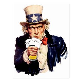 飲む米国市民 ポストカード