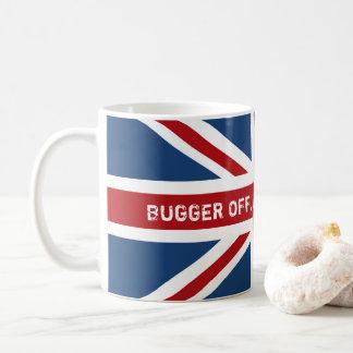 飲む茶イギリスの旗を離れて台無しにして下さい コーヒーマグカップ