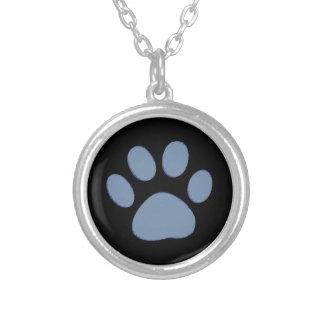 飼い犬猫のpawprints シルバープレートネックレス