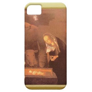飼い葉桶の安定した場面、メリーおよびベビー iPhone SE/5/5s ケース
