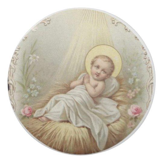 飼い葉桶の花の幼児ベビーイエス・キリスト 消しゴム
