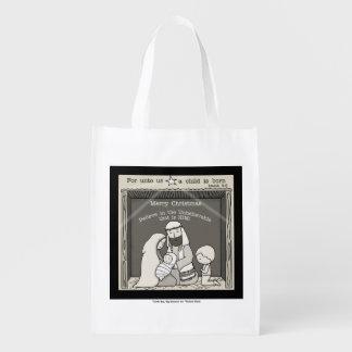 飼い葉桶メリーなクリスマスの小さい男の子 エコバッグ