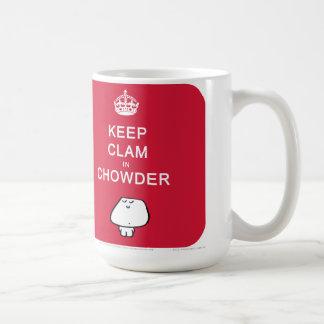 """""""飼って下さいチャウダーのハマグリを"""" コーヒーマグカップ"""