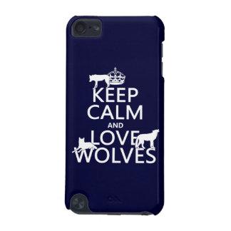 飼って下さい平静および愛オオカミ(どの背景色でも)を iPod TOUCH 5G ケース