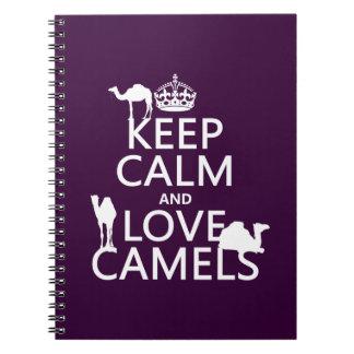 飼って下さい平静および愛ラクダ(すべての色)を ノートブック