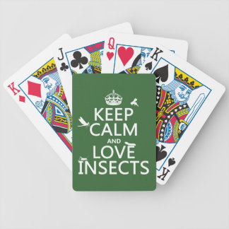 飼って下さい平静および愛昆虫(どの背景色でも)を バイスクルトランプ