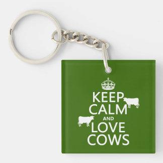 飼って下さい平静および愛牛(すべての色)を キーホルダー