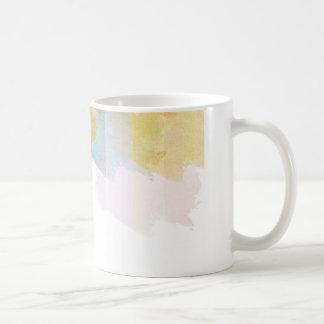 飽和させたストライプな水彩画 コーヒーマグカップ