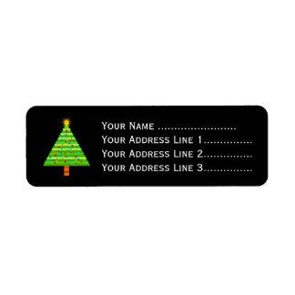 飾られたクリスマスツリー + 住所 ラベル