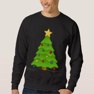 飾られた休日の木の醜いクリスマスSwaeter スウェットシャツ