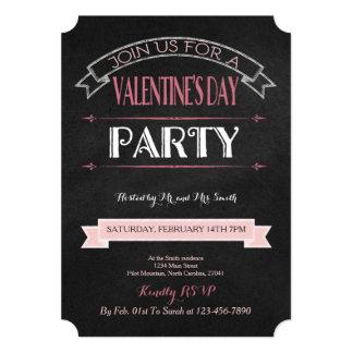 飾られた黒板 のバレンタインのパーティの招待状 12.7 X 17.8 インビテーションカード