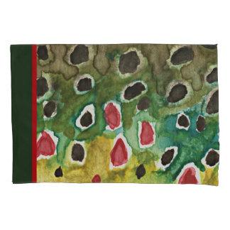 飾るブラウン・トラウトのはえの魚釣り 枕カバー