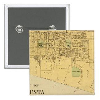 養育関係Tietzvilleのオーガスタ市 5.1cm 正方形バッジ