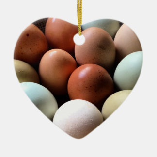 養鶏場からのかわいらしい卵 セラミックオーナメント