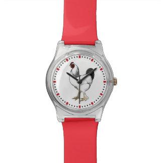 養鶏場の裏庭の鶏ライトBrahmaのオンドリ 腕時計