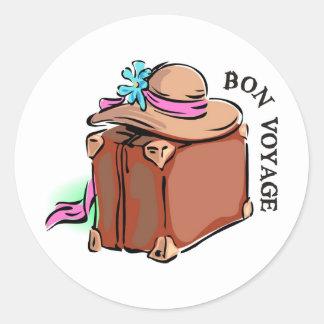 餞別に、よい旅行があります! 荷物及び帽子 ラウンドシール