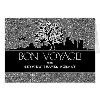 餞別の旅行会社ビジネス挨拶 カード