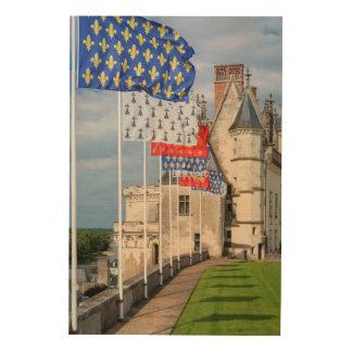 館のd'Amboiseおよび旗、フランス ウッドウォールアート