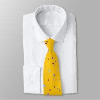首のタイ-尿の微粒子(黄色いキャンバス) ネクタイ